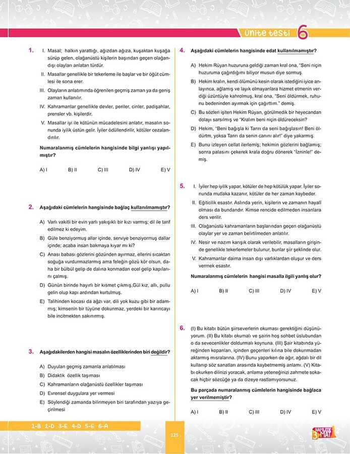 9. SINIF TÜRK DİLİ VE EDEBİYATI SORU BANKASI