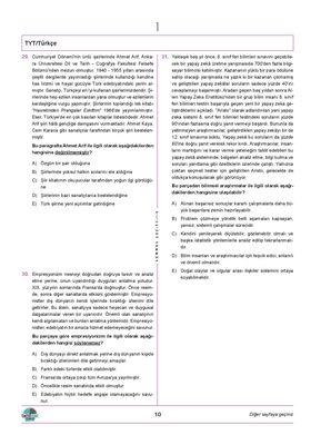 TYT TÜRKÇE DENEMELERİ 20 Lİ (4)