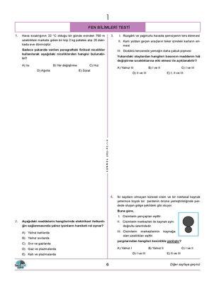 TYT FEN BİLİMLERİ DENEMELERİ 20 Lİ (4)