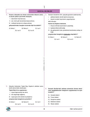 TYT SOSYAL BİLİMLER DENEMELERİ 20 Lİ (5)